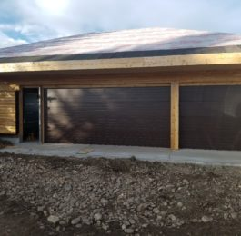Triple Garage Door Installation in New Home in Boulder, CO