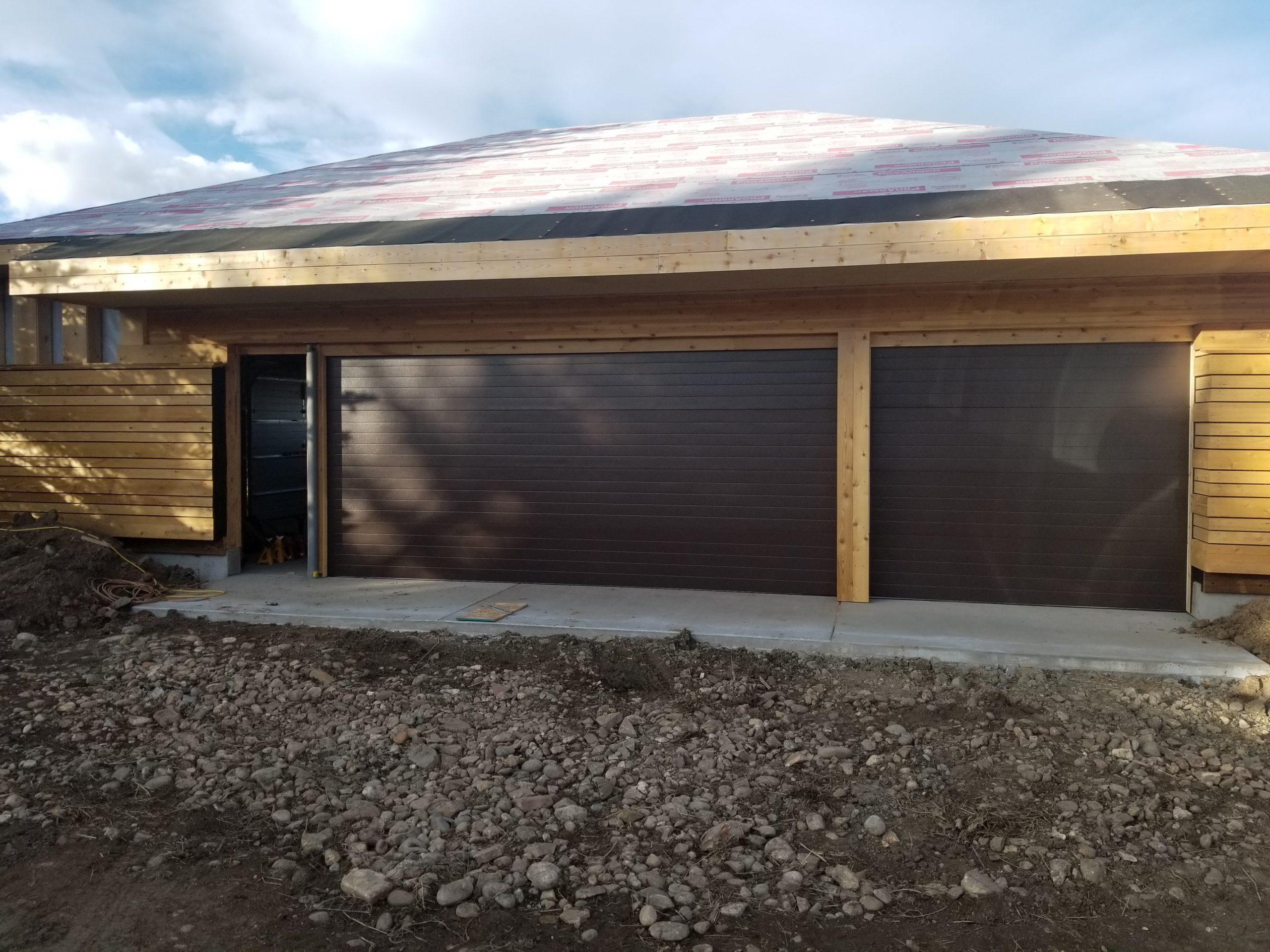 Triple Garage Door Installation in New Home in Boulder, CO