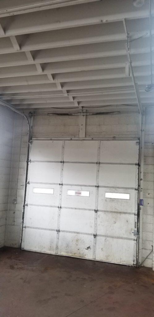 Inside 10 x 10 Garage Door Before New Installation