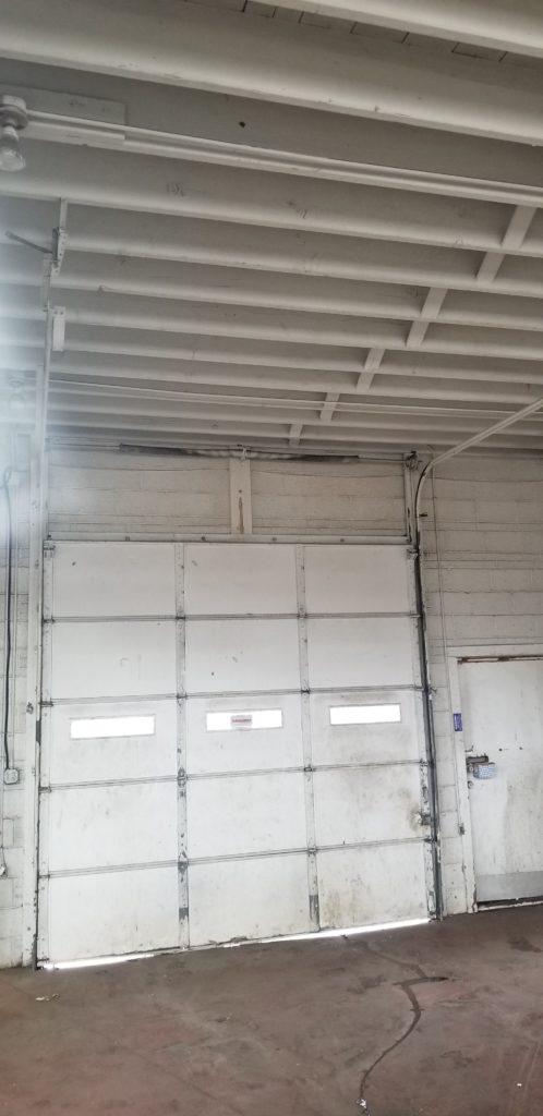 Inside Garage Door Before Replacement